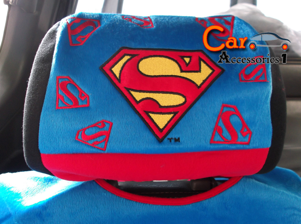 Superman Car Accessories: ชุดแต่งรถซุปเปอร์แมน,ของแต่งรถ,ซุปเปอร์แมน,หุ้มเบาะ